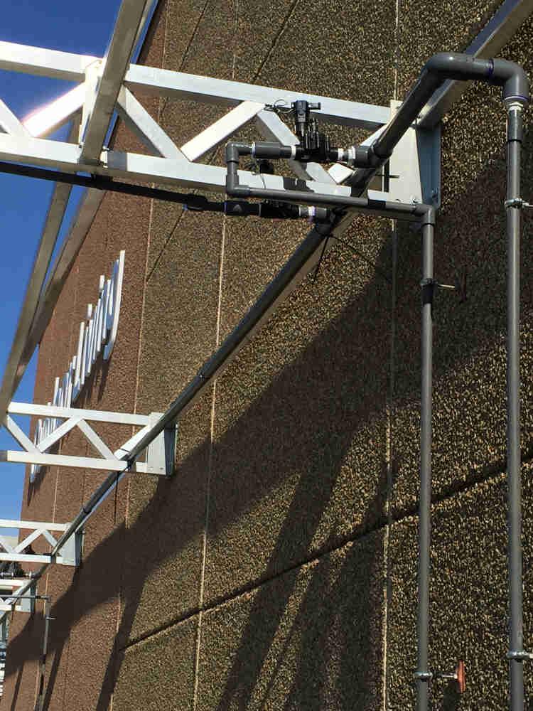 Walmart-Hamilton-Irrigation-Overhead-Setup - Aspen Landscaping